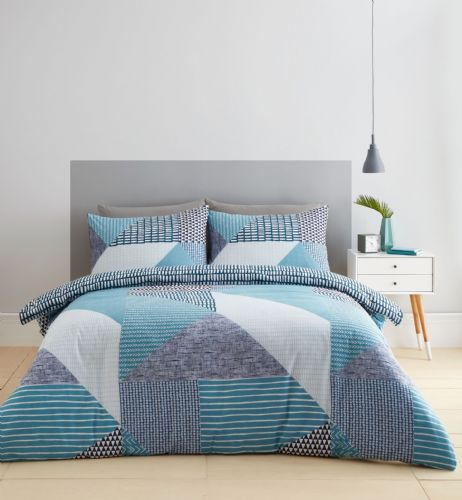 Catherine Lansfield Larsson Geo Teal Bedding Set